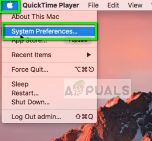 System preferences - Home screen on Mac OS