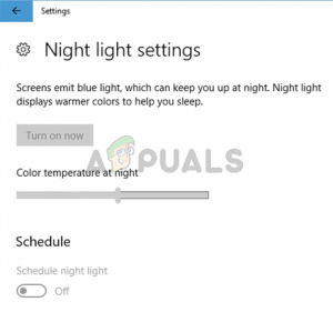 Windows 10 night light not working