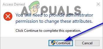 click continue in uac prompt