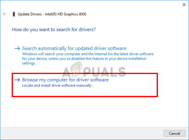 Manually updating drivers
