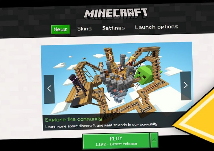 Latest patch by Minecraft