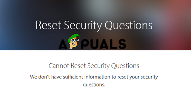Reset security question