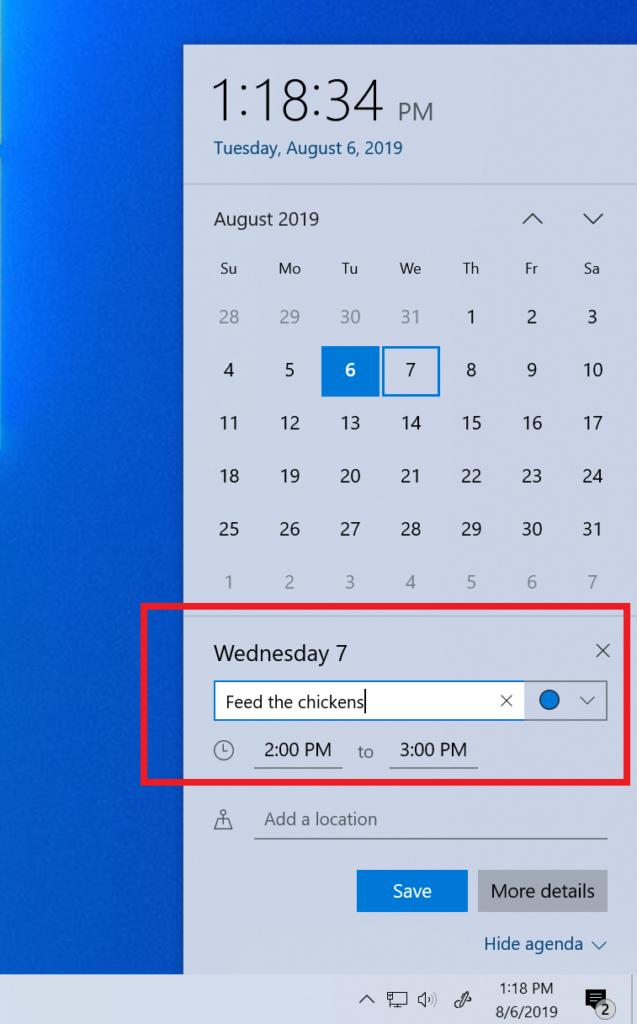 Calendar improvements