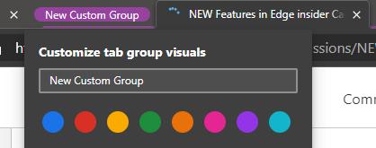 Edge Tab Groups
