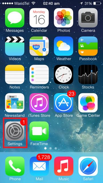 iPhone-Startbildschirm