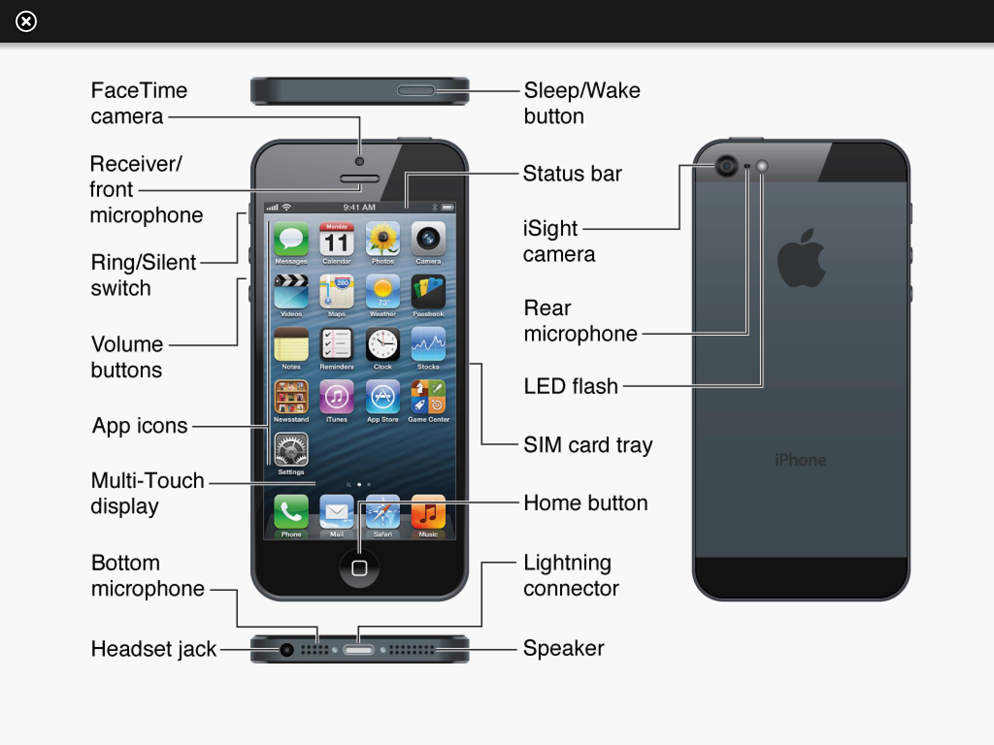 iPhone-Tasten