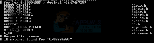 SOLVED: How to Fix Error 0x80004005 - Appuals com