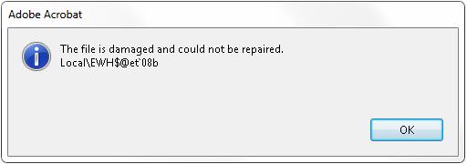 file is damaged