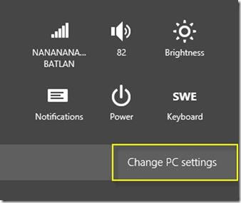 PC Einstellungen ändern