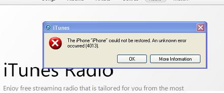 erreur 4013 iphone 6