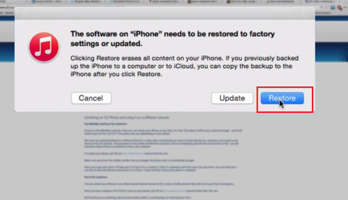 iphone is disabled - restore