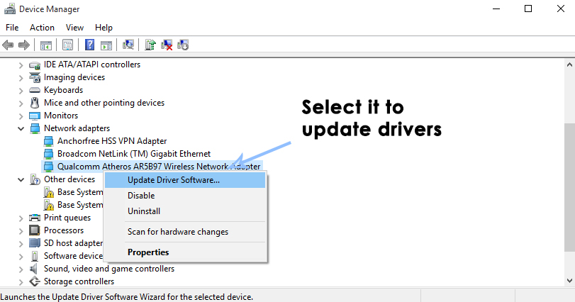 perdre Internet après l'installation de Windows 103