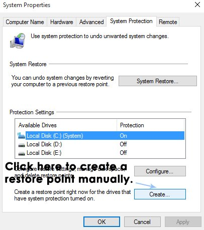 restauration du système dans Windows 10-4