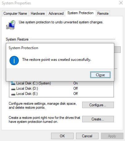 system restore in windows 10-5