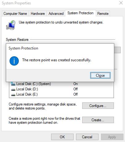 restauration du système dans Windows 10-5