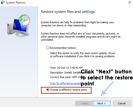 system restore in windows 10-7