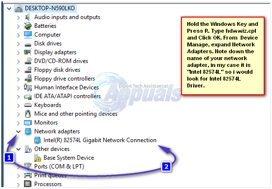 update network adapter windows 10
