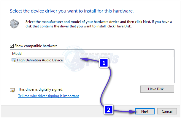 windows 10 generic high definition audio driver