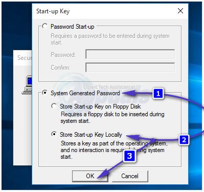 start up password 3