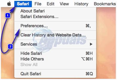 clear safari cache