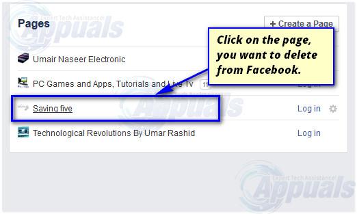 delete facebook page-2