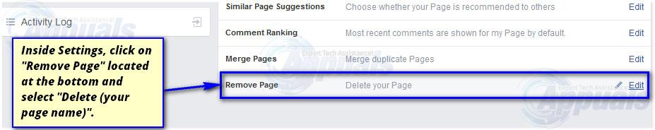delete facebook page-4