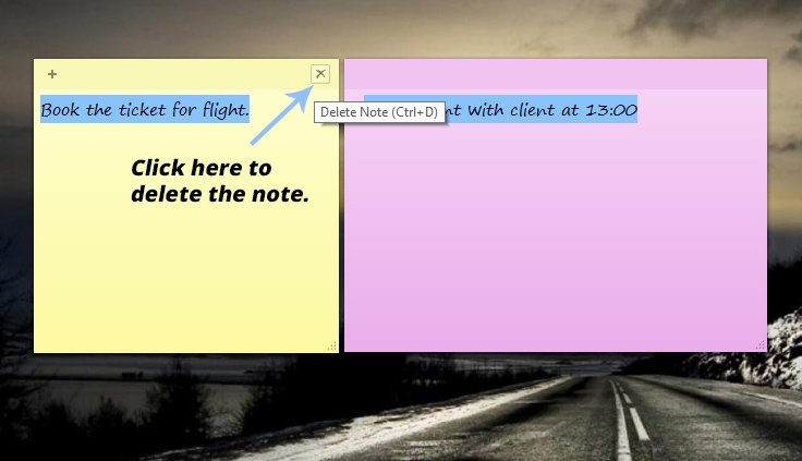 sticky notes windows 10-5