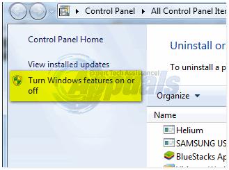 Schalte Windows Funktionen ein oder aus