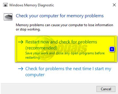 diagnostic de la mémoire Windows