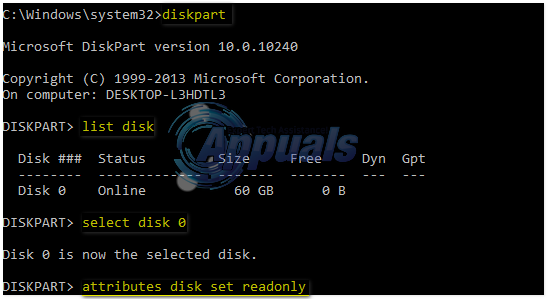 write protection disk