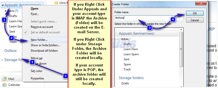 windows mail archive