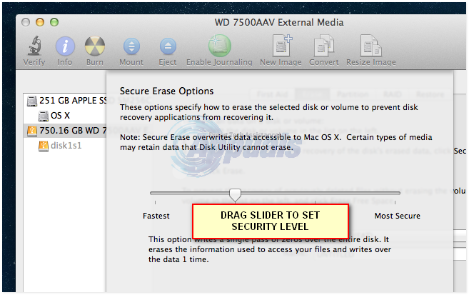 wipe external disk mac