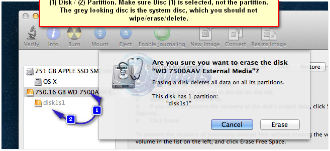 wipe external disk mac1