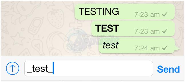 italic whatsapp