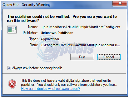open file security warning