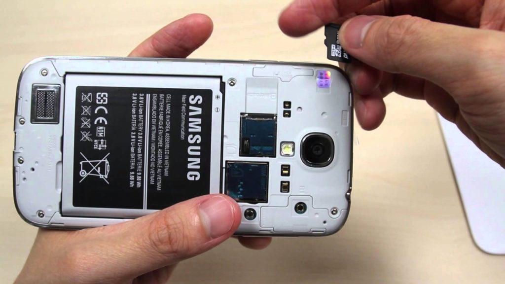 remove samsung sd card