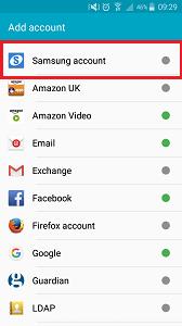 Samsung-Add-Account