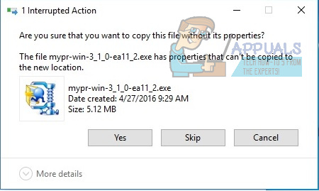 Are You Sure You Want to Copy This File Without its Properties