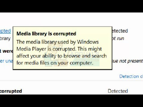 Media Library Is Corrupted
