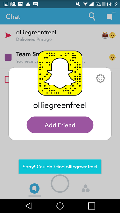 when you cant add a friend on snapchat