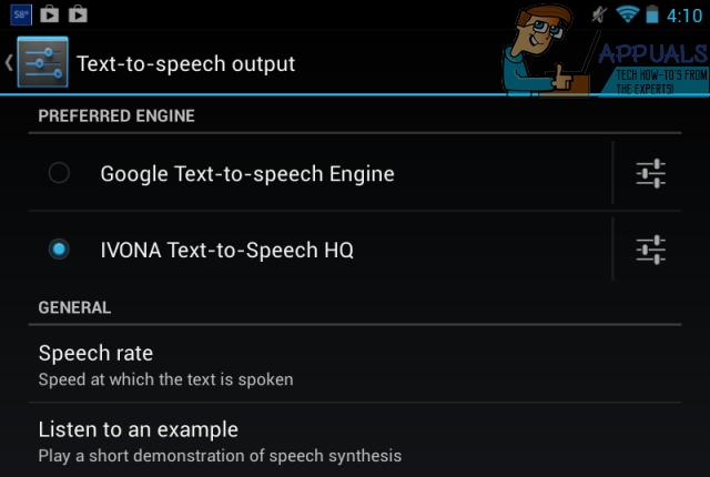 google text-to-speech engine