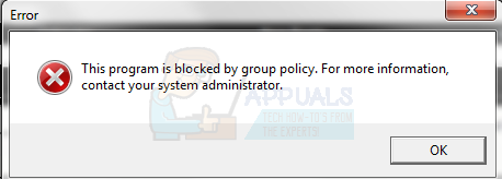 Fix: This Program is Blocked by Group Policy - Appuals com