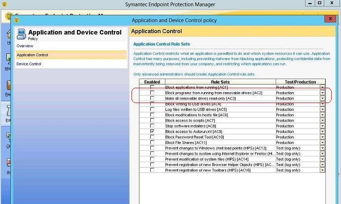 Anwendungs- und Gerätesteuerungsrichtlinie