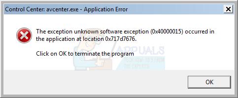 unknown-software-exception