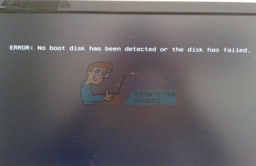 How to Fix No Boot Disk Has Been Detected or the Disk Has