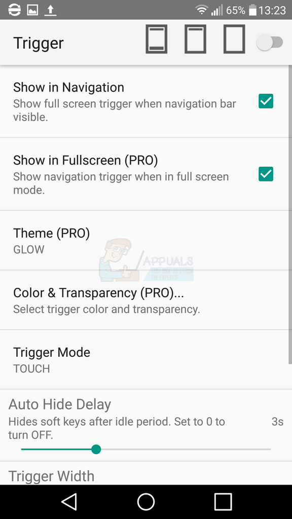 How to Hide the On-Screen Buttons on Android - Appuals com
