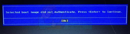 FIX: Selected boot image did not authenticate - Appuals com