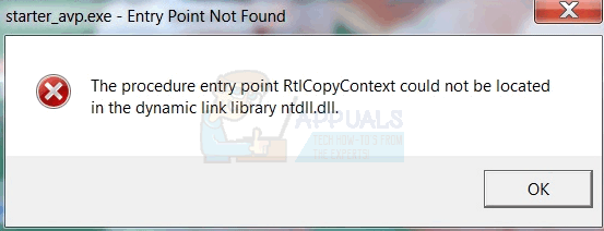 Fix: The procedure entry point 'name' could not be located