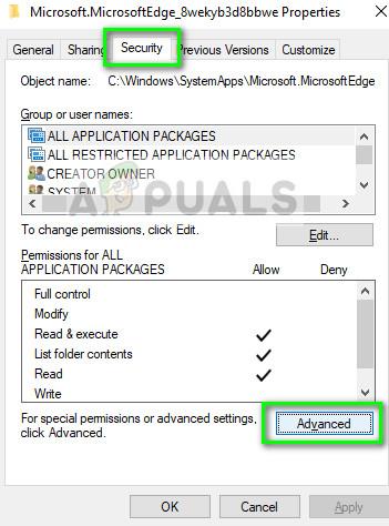 Advanced properties of Microsoft Edge on Windows 10