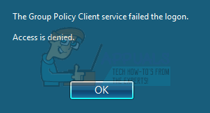 Fix: The Group Policy Client Service Failed the Logon